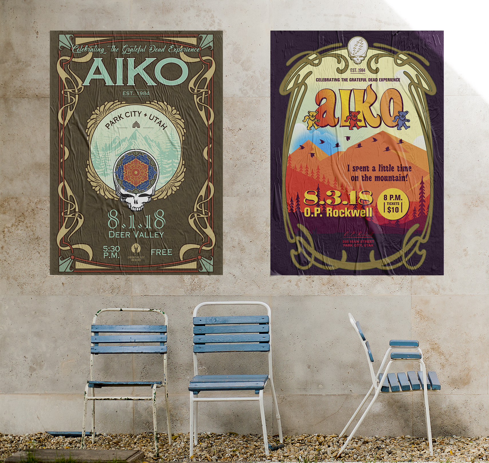AIKO ROCK BAND CONCERT POSTERS