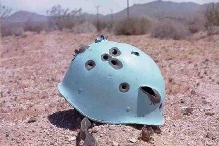 un helmet shot