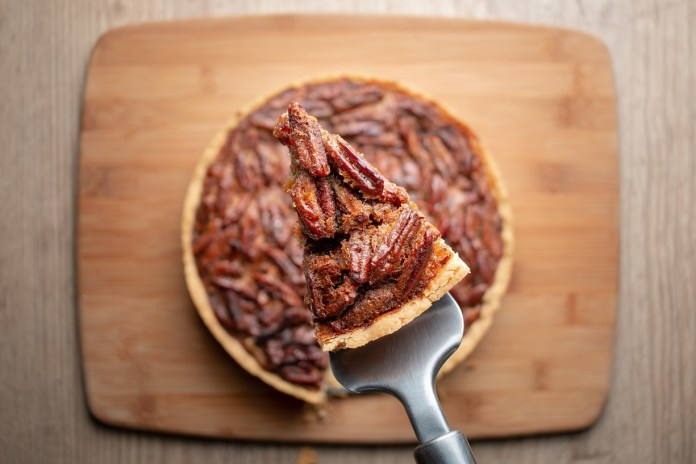 Slice of homemade Pecan Pie