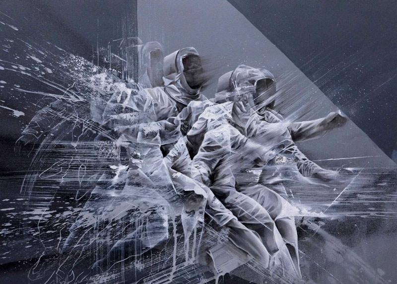 Pintura de Esgrima de Aaron Li Hill, del que ya os hablaremos más adelante en El Gato.
