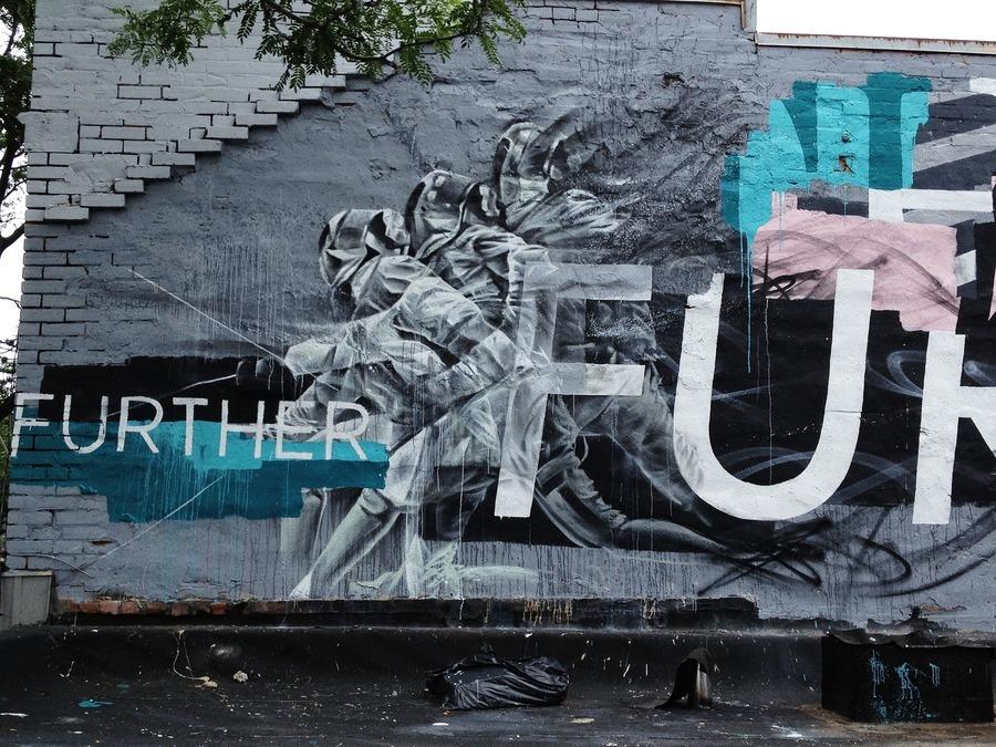 Grafiti de esgrima de Aaron Li-Hill