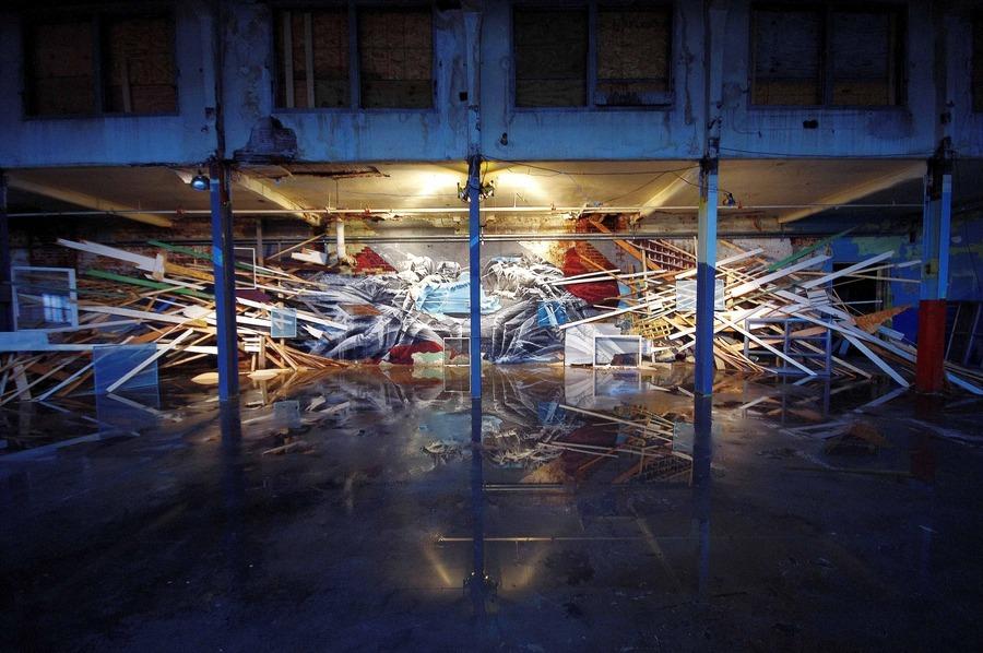 Instalación Esgrima de Aaron Li-Hill