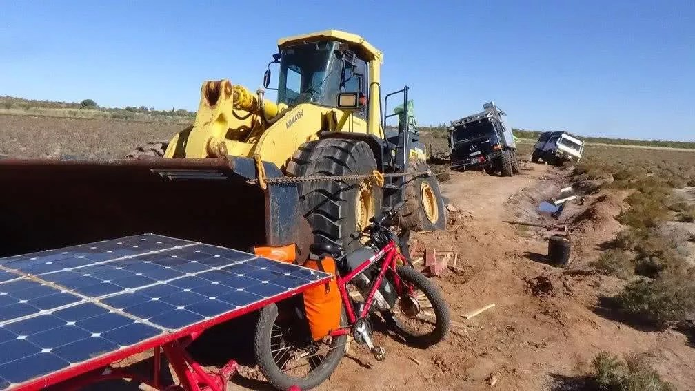 Sam Mitchell, Canning Stock Route, Outback, bogged, unimog