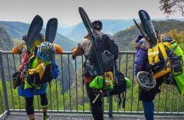 Adventure Racing 101 // How, What, Why...And Why Again? Emily Rowbotham, photo by David Barlow, Mandatory gear for one leg, paddles, packrafts, lookout, hike in, view, mountains