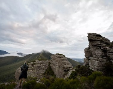 Hike To Another World // Talyuberlup Peak - Stirling Range NP (WA), Megan Warner, rock outcrop, hiker, peak, layers