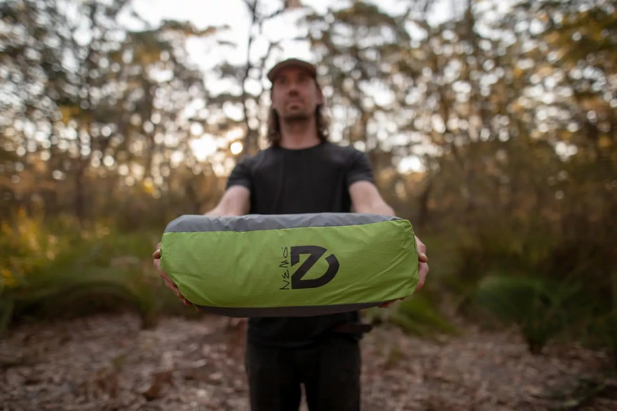 Sleeping Like A Star - NEMO Galaxi 2P // Gear Review, Jon harris, review by Mattie Gould, meroo head camp ground, nsw, packed