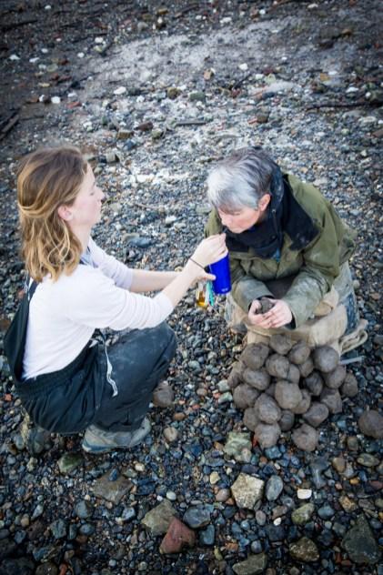 Jess Kiely, Liz's PA, brings Liz a drink