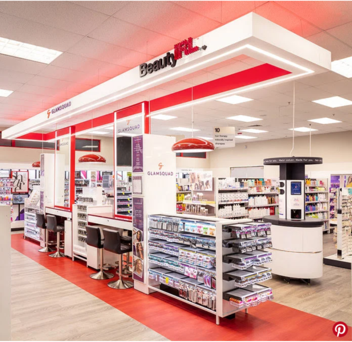 BeautyIRL space in a CVS store