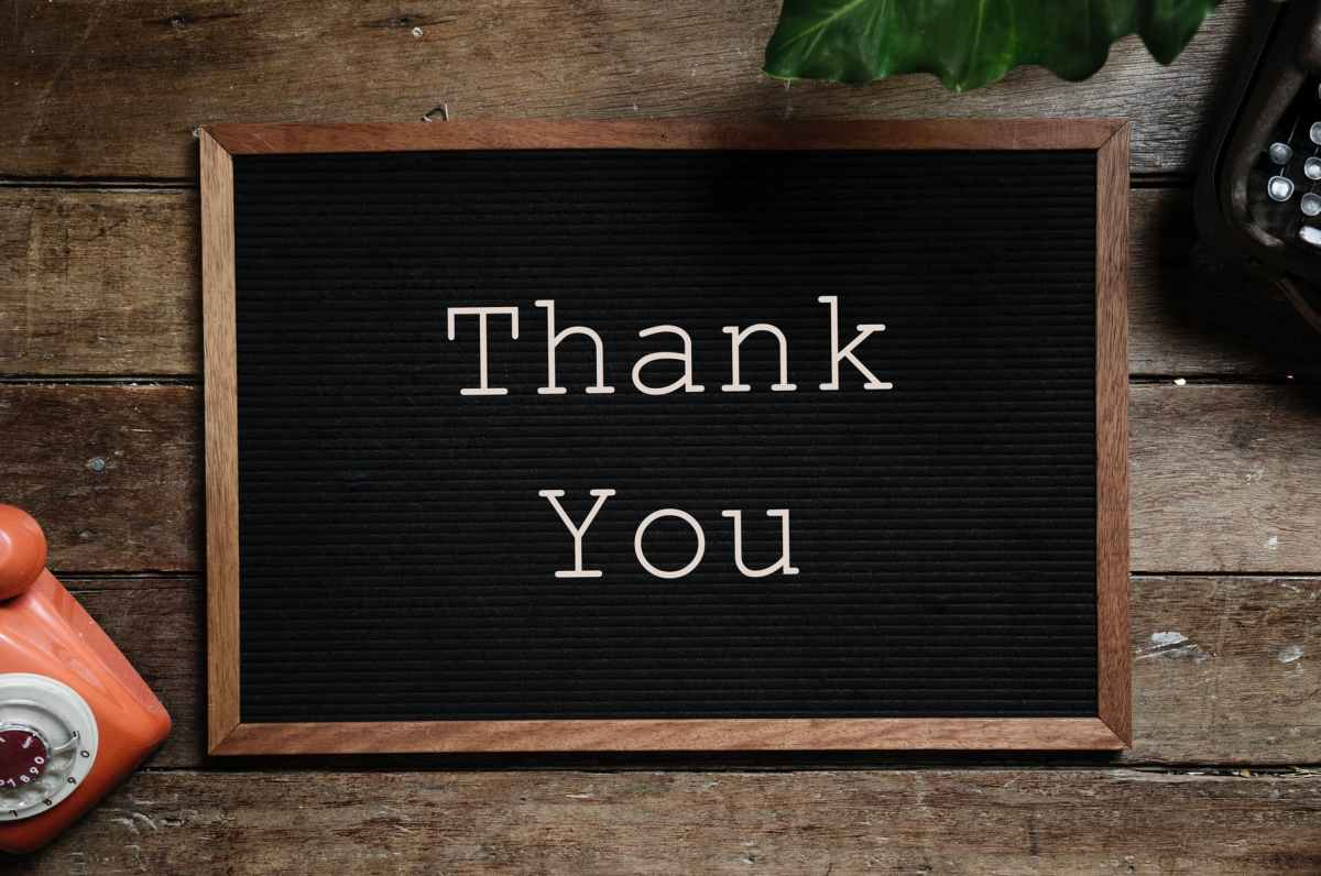 Video: A thank you!