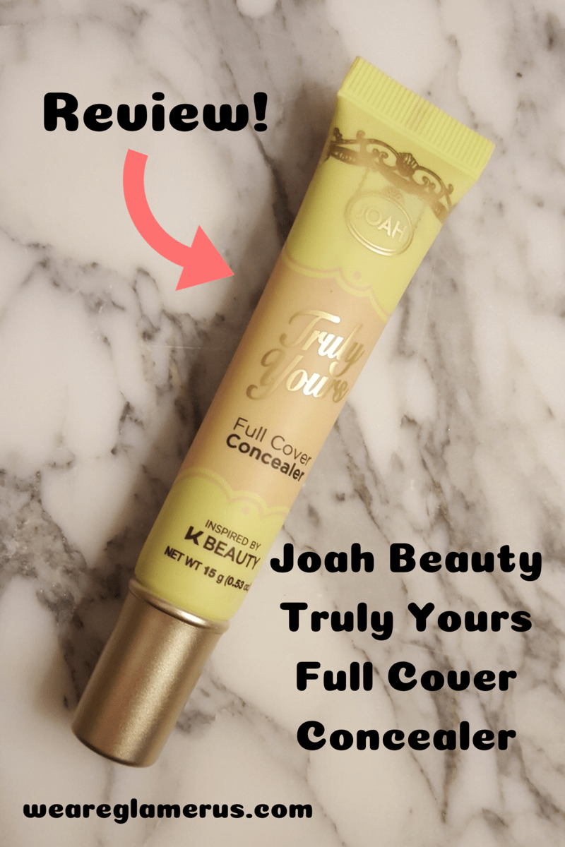 Check out my review of the Truly Yours Full Cover Concealer from Joah Beauty!