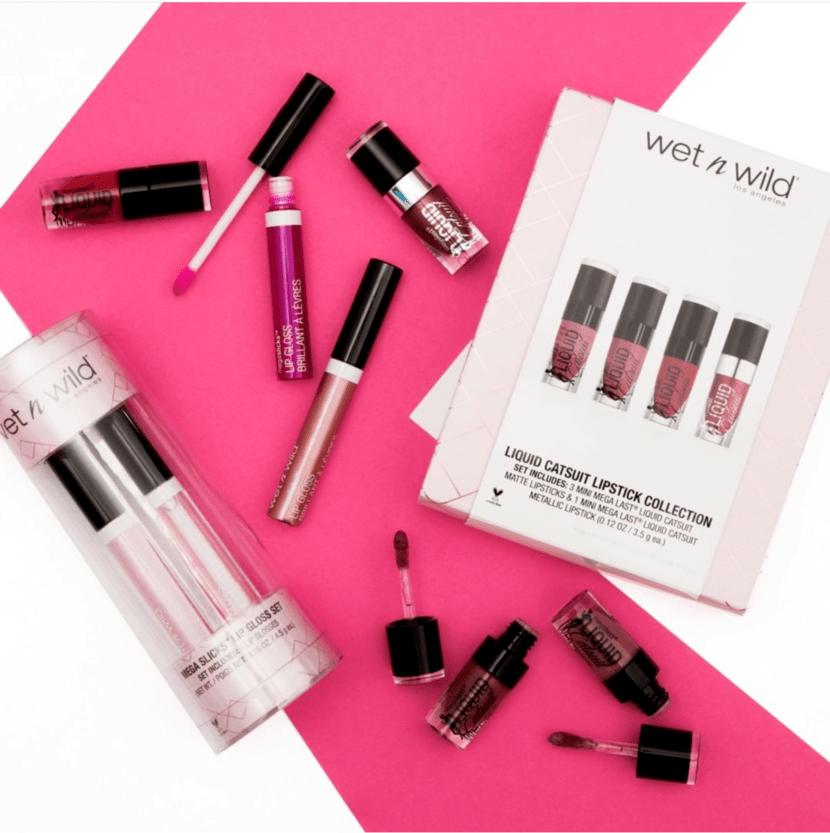 Wet n' Wild Liquid Catsuit Lipstick Collection & Mega Slick Lip Gloss Set