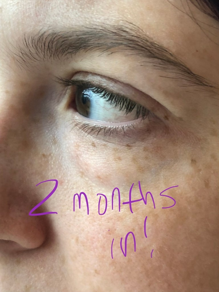 Natural lashes 2 months after starting use of Chantecaille Longest Lash Mascara