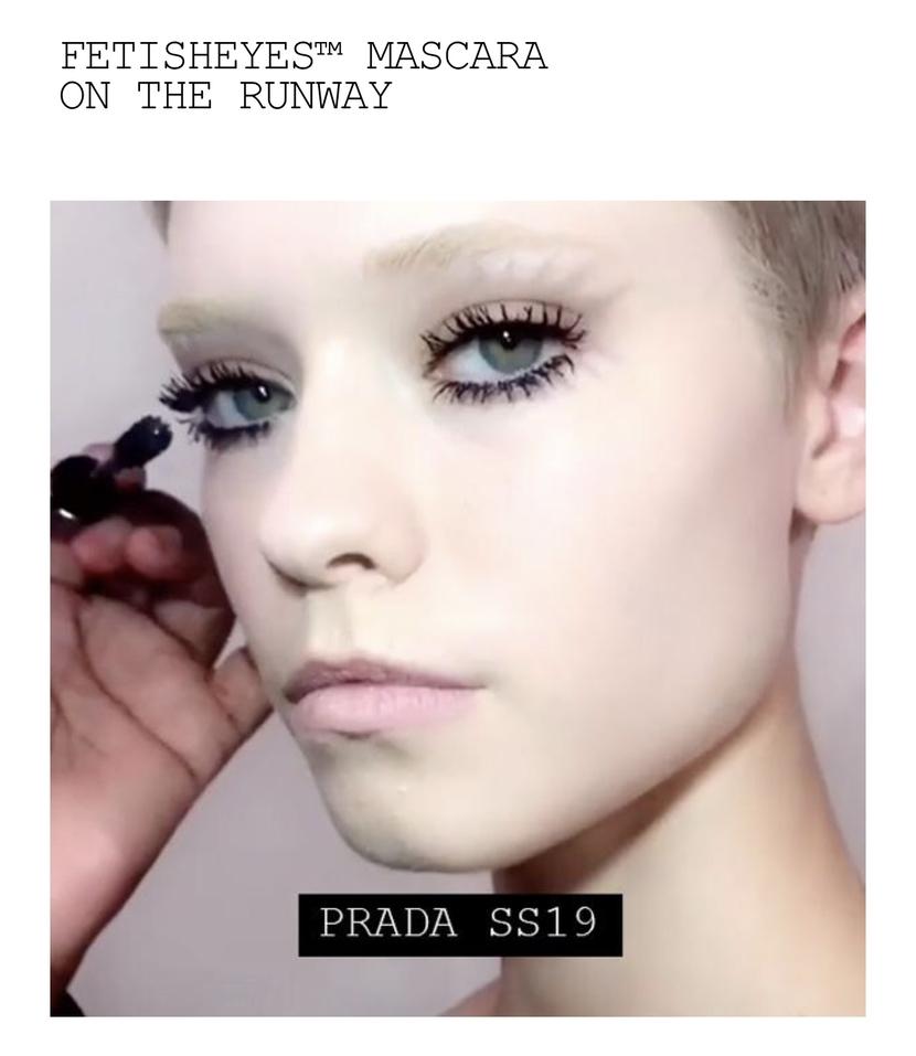 Visual showing Pat McGrath's FetishEYES Mascara on model