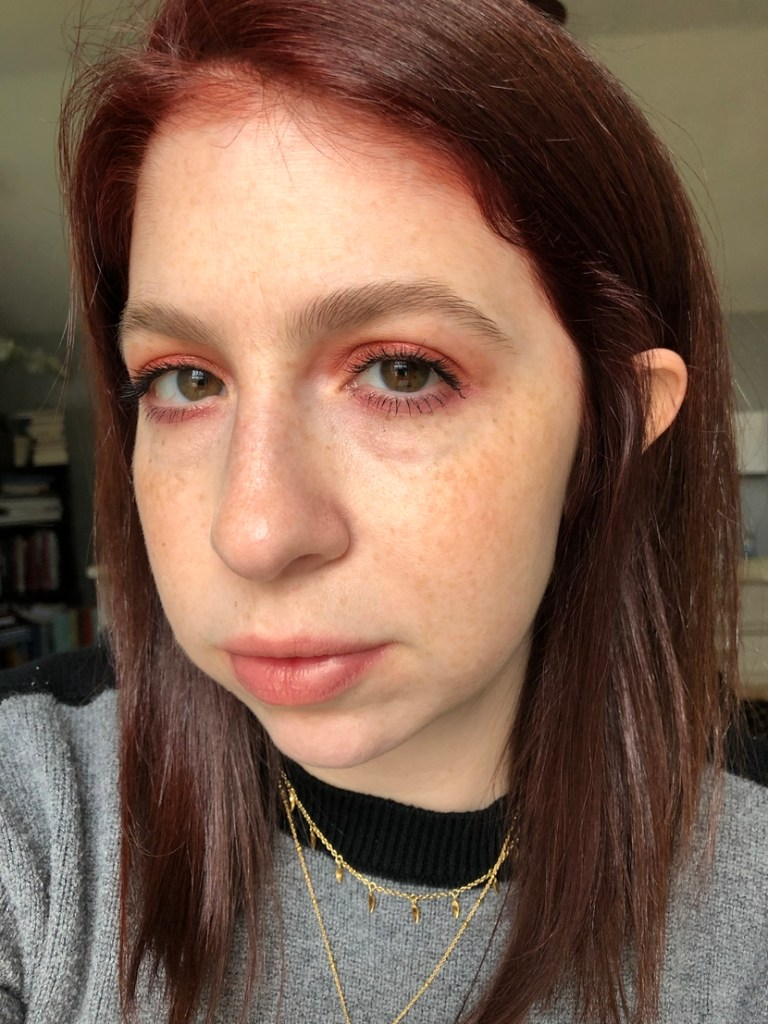 Colorful editorial look featuring reds & pinks from the Juvia's Place Saharan Palette
