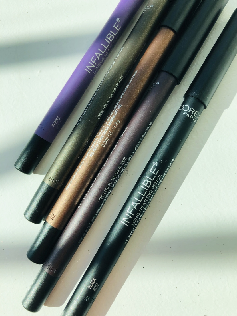 Up close detail of L'Oreal Infallible Pro Last Waterproof Pencil Eyeliners