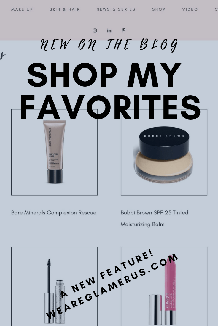 I've added a new feature on my blog - Shop My Favorites! A one-stop-shop for all my product recommendations!