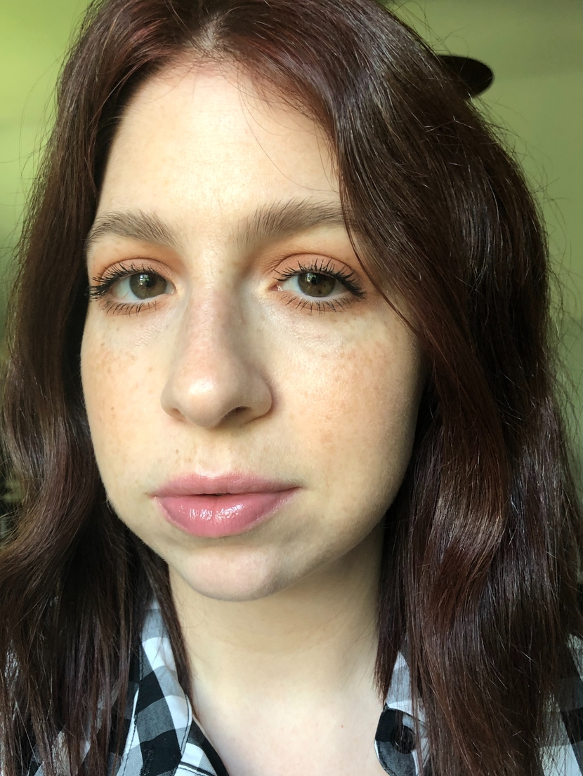 After shot - Post application of Chantecaille Future Skin Foundation