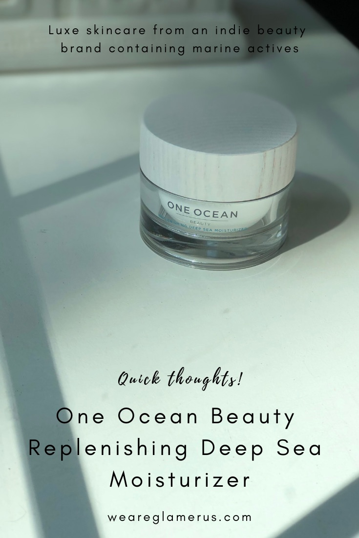 It's indie beauty month all July on here! Check out today's post on the luxe One Ocean Beauty Replenishing Deep Sea Moisturizer!