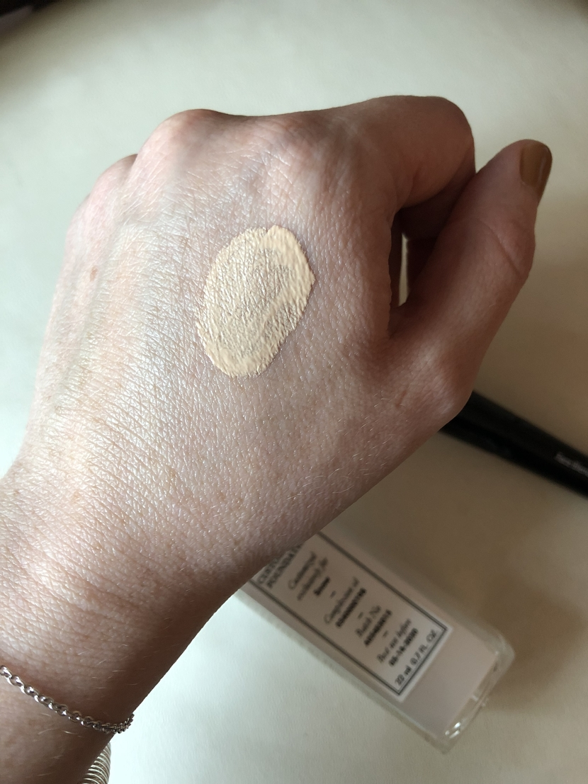 Swatch of my customized foundation shade called Snow
