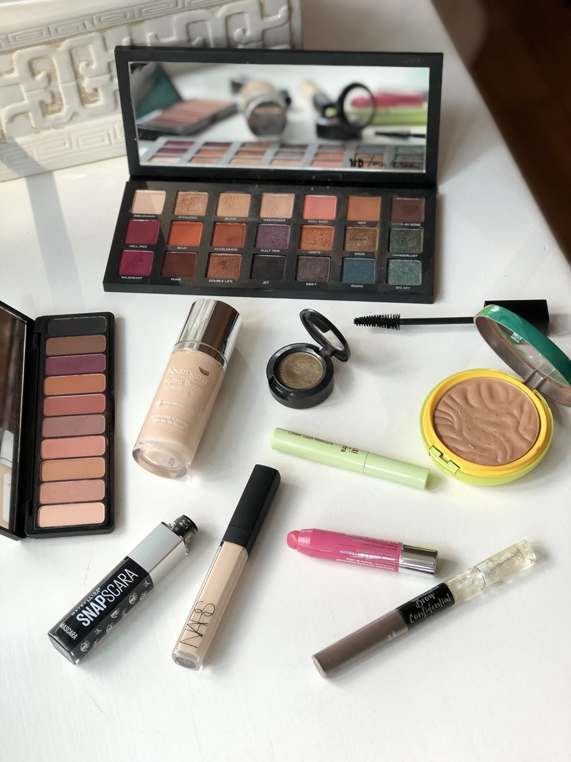 Products used in makeup look #1 from beauty inspo challenge