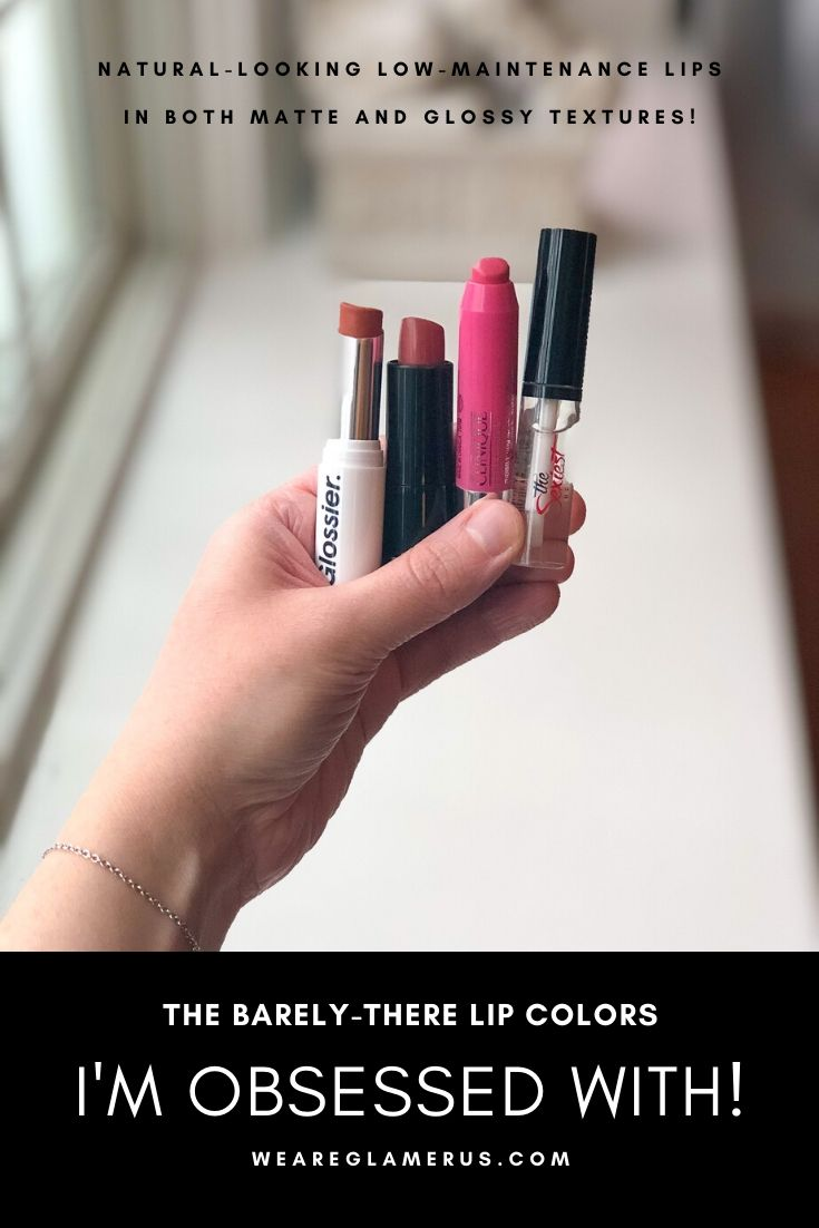 In today's post I talk about my favorite barely-there lip colors in both matte & glossy textures!