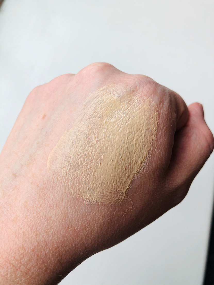 A mixture of NARS Radiant Creamy Concealer with the Weleda Skin Food Light