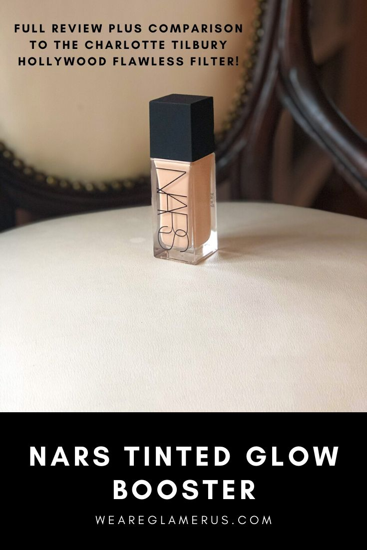 Check out my full review of the new, limited-edition NARS Tinted Glow Booster, plus a comparison to the Charlotte Tilbury Hollywood Flawless Filter