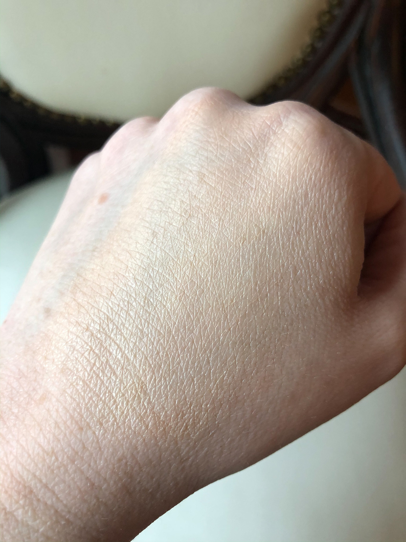 Swatch of NARS complexion enhancer in Light