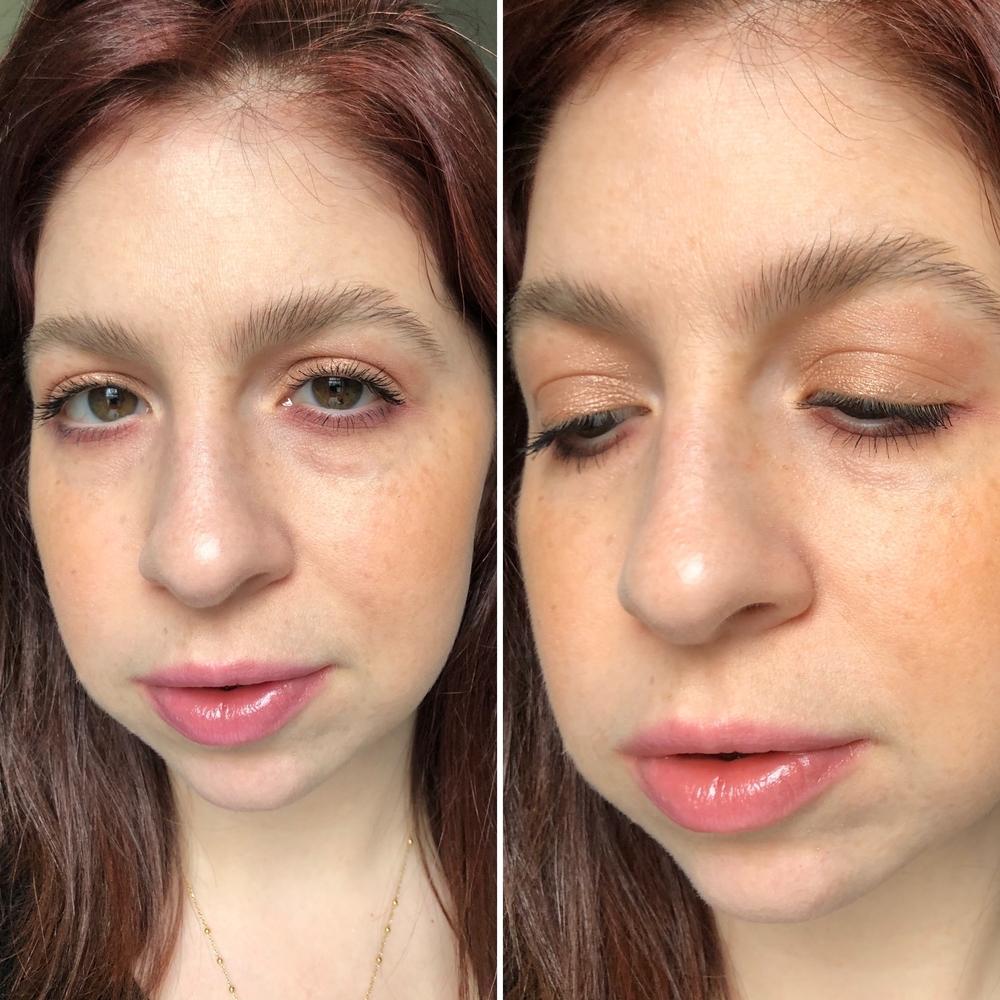 Makeup look #2 wearing gold & purple tones