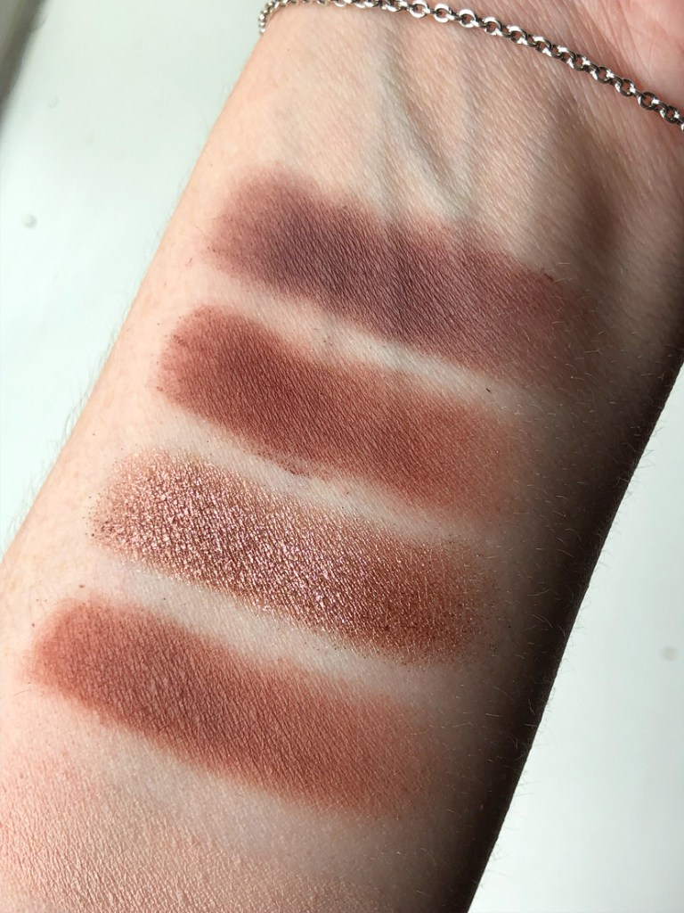 Second row of eyeshadows