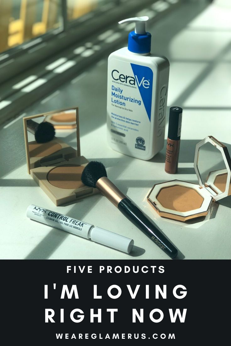 Check out my latest post on five products I'm loving right now from skincare, beauty tools, to makeup!