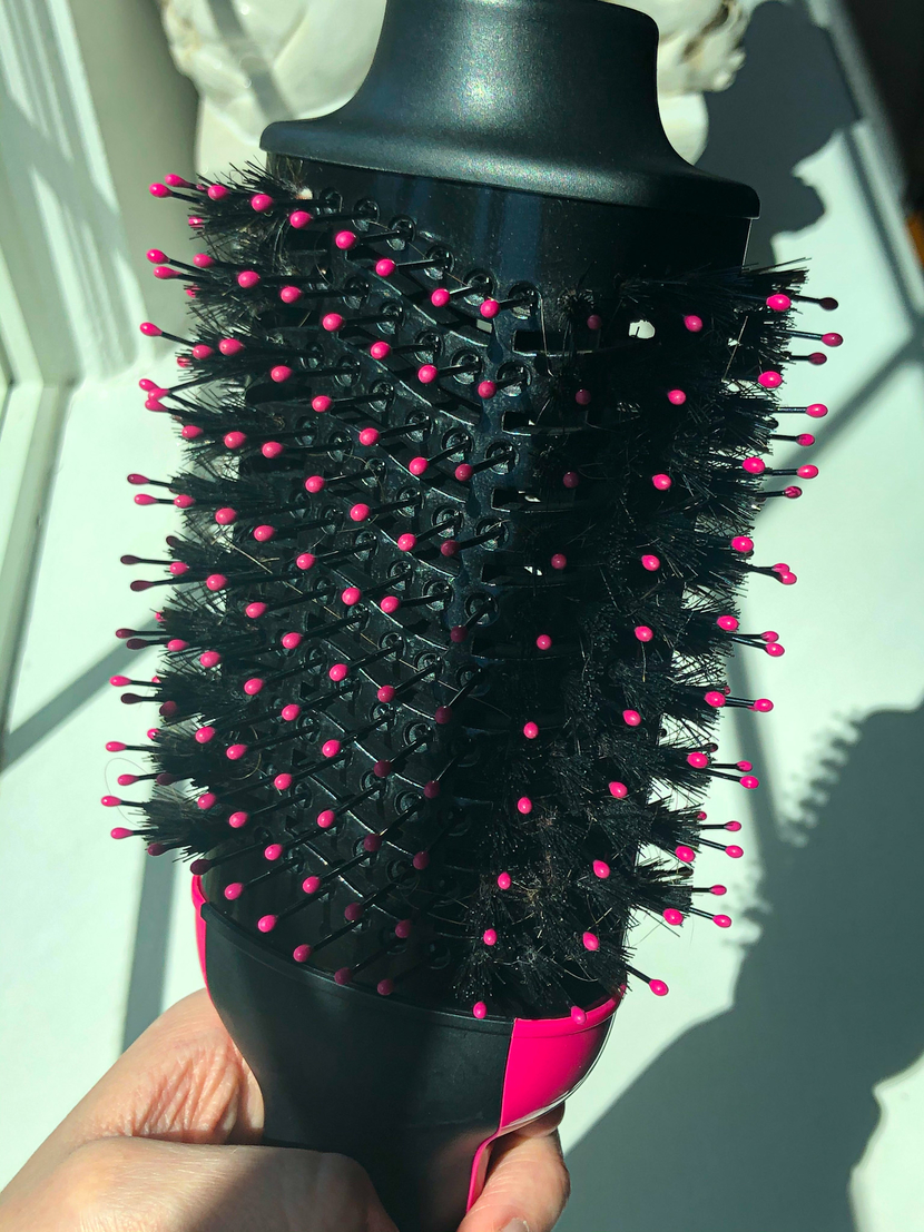 The Revlon One-Step Hair Dryer and Volumizer - salon blowout at home