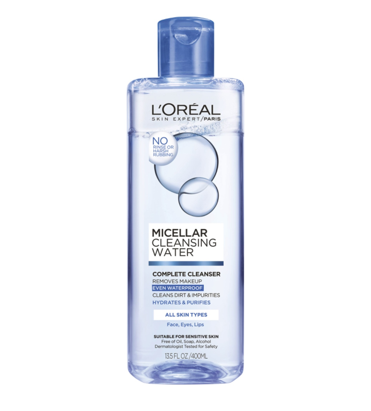 L'Oreal Micellar Cleansing Water Complete Cleanser for a quick cleansing option
