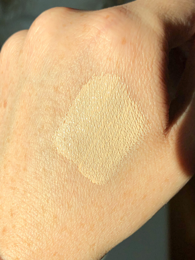 Swatch of shade 120C on the back of my hand