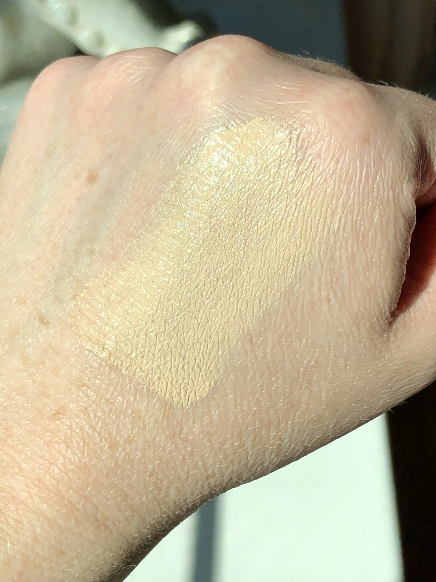 Swatch of shade 12 from the Make Up For Ever Ultra HD Self-Setting Concealer, which is fair with neutral undertones