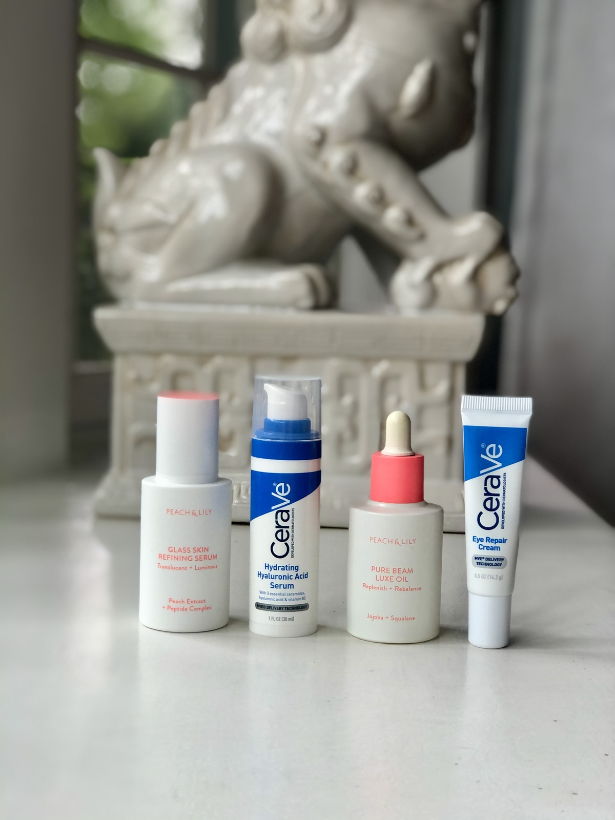 My current no-moisturizer summer skincare routine starring Peach & Lily and CeraVe!