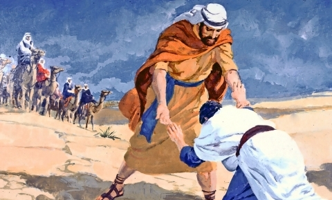 Jacob meets Esau