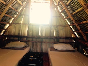 The inside of our cabin