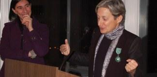 Judith Butler et Pauline Carmona, remise de médaille