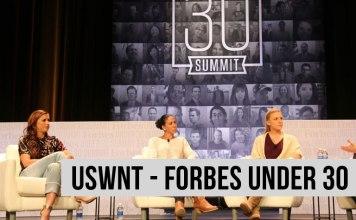 Women's Soccer France - FORBES under 30 summit - égalité - Alex Morgan - Shannon Boxx - Julie Johnston