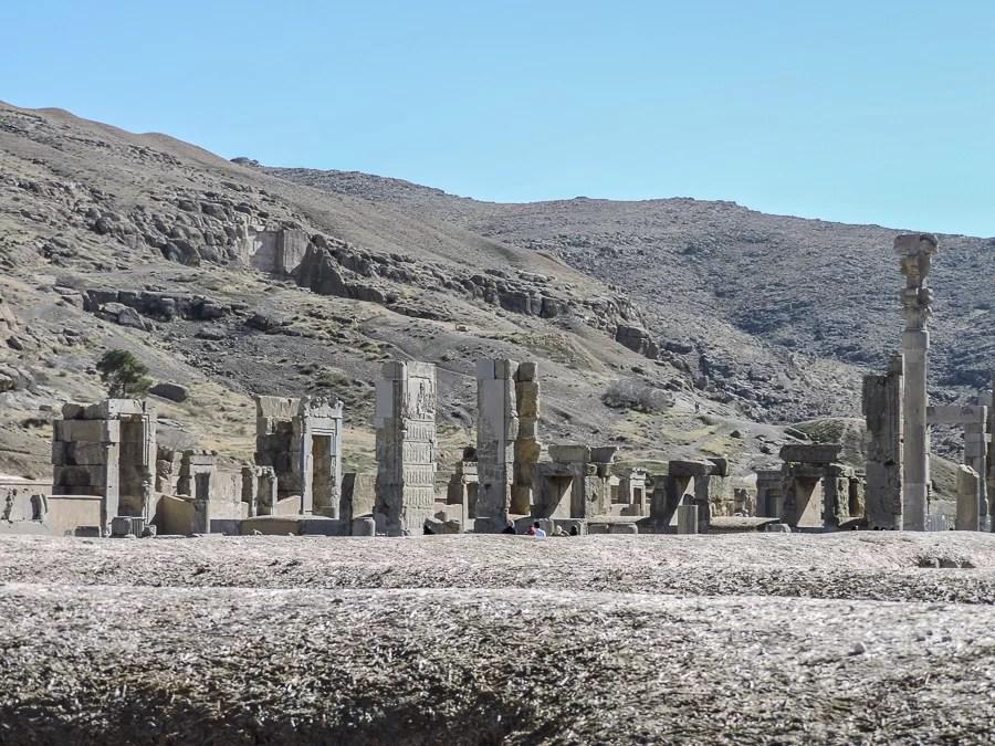 Veduta del sito archeologico di Persepolis
