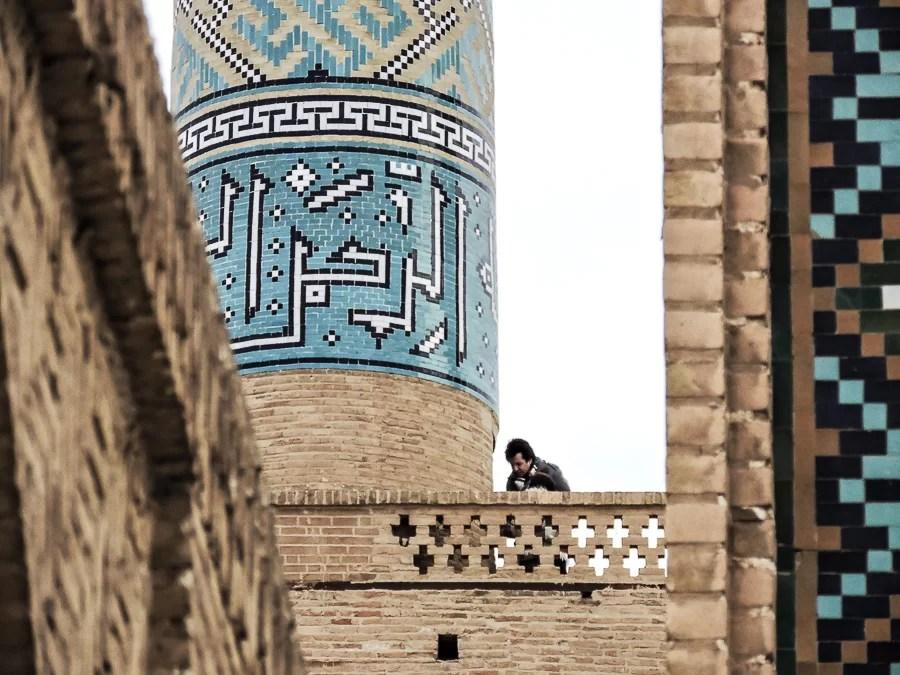 Un particolare dei minareti della Masjid-e Jame di Yazd