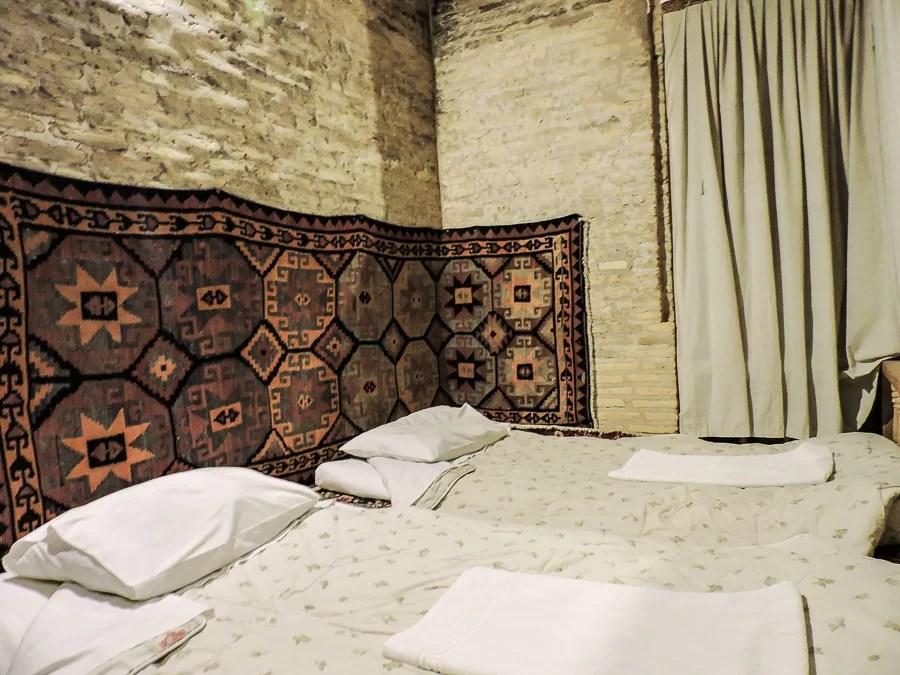 La camera doppia dove abbiamo dormito allo Zein-o-Din