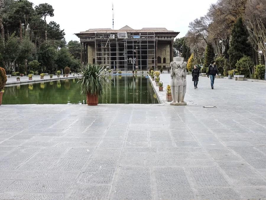 Veduta esterna del Chehel Sotoun