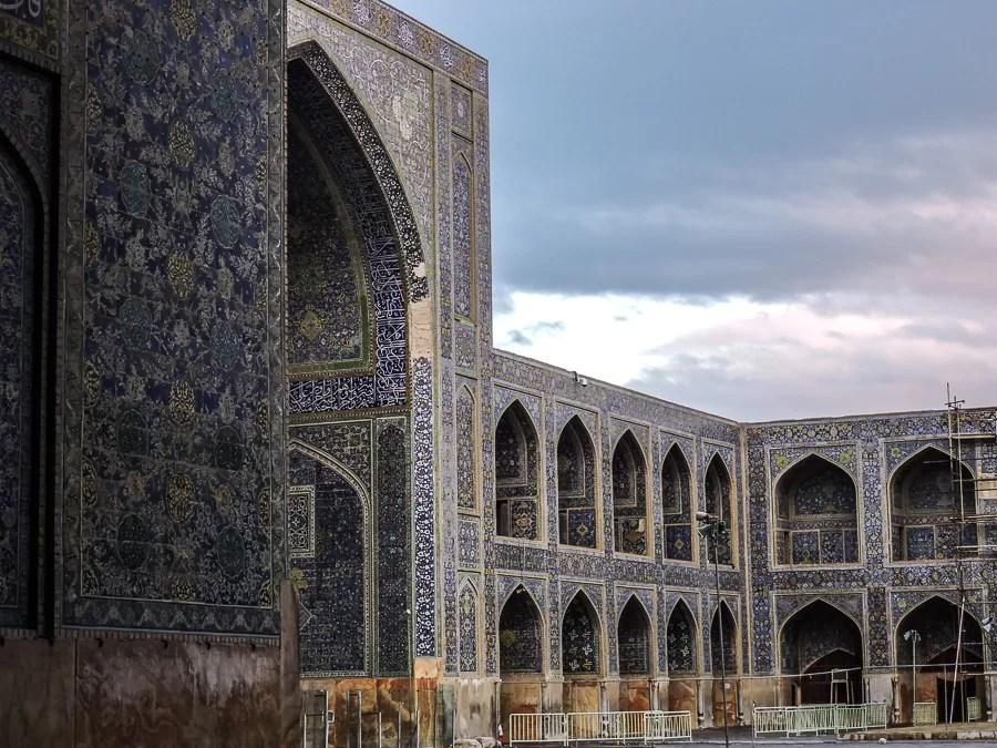 Scorcio del portale della moschea dello Scià a Isfahan