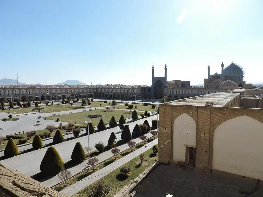 Vista sulla piazza dello Scià dall'Ali Qapu Palace