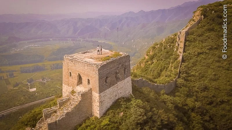 Foodmadics on the Great Wall in China