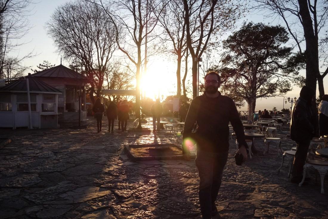 Urbo al tramonto La vista sull'area europea di Istanbul a Büyük Çamlıca