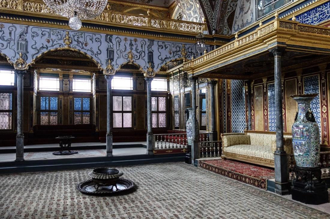 La sala del trono all'interno dell'Harem del Palazzo Topkapi
