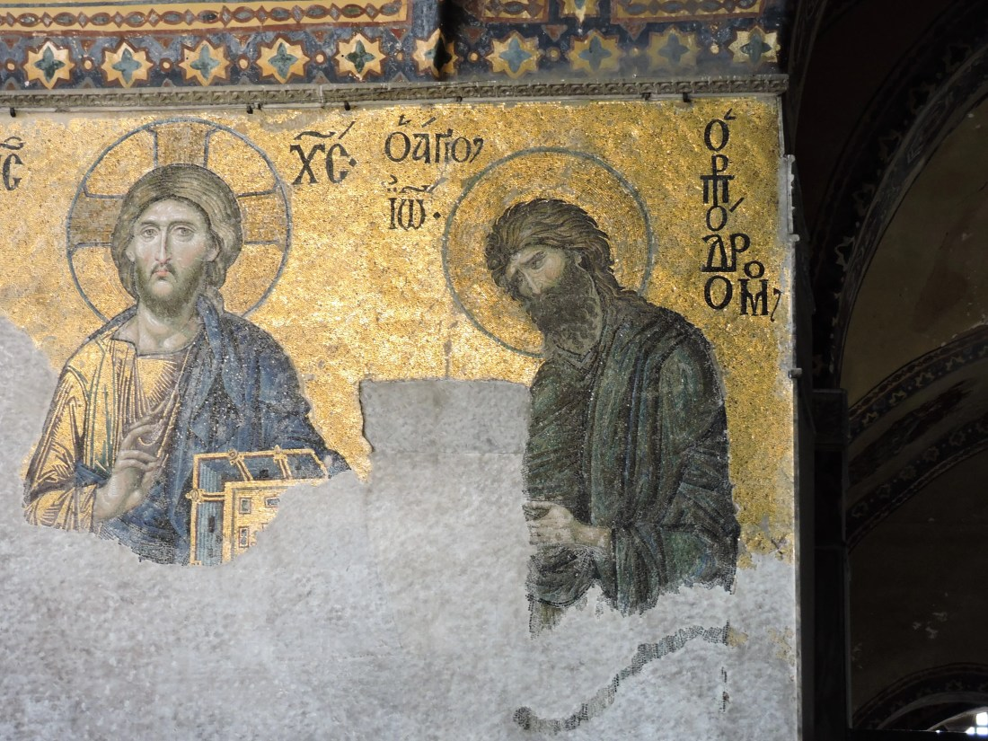 Mosaico all'interno di Hagia Sophia